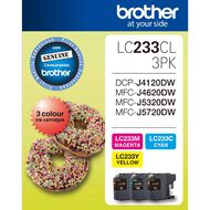 Brother Ink Cartridge LC233 3 Pack Multi-Coloured