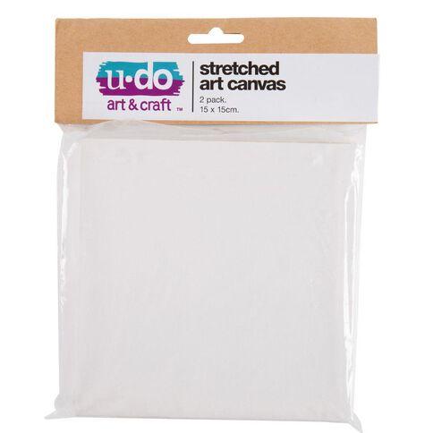 U-Do 15 x 15cm Stretched Canvas 2 Pack