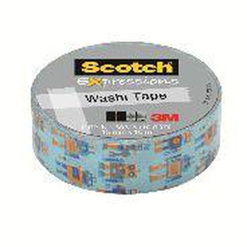 Scotch Washi Craft Tape 15mm x 10m Robots
