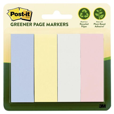 Post-It Greener Page Markers 25.4mm x 76.2mm Helsinki Collection