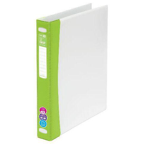 ColourHide Softgrip Ringbinder 2D Lime