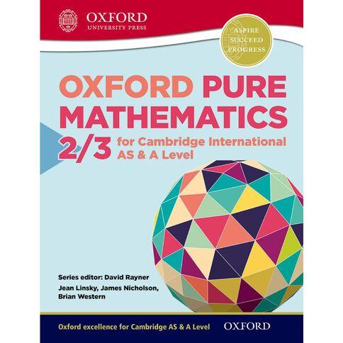 As/A Year 12/13 Pure Mathematics 2/3