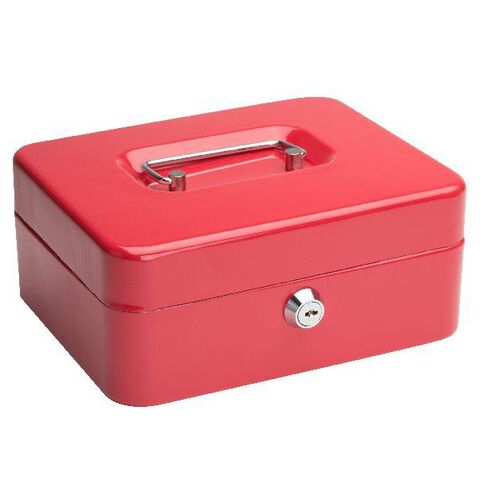 Cash Box 8 inch Red