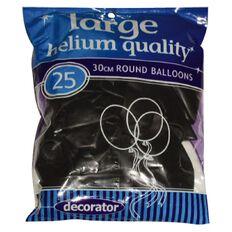 Balloons Round Purple 30cm 25 Pack Purple