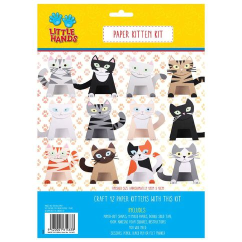 Little Hands Paper Kitten Kit 12 Pack