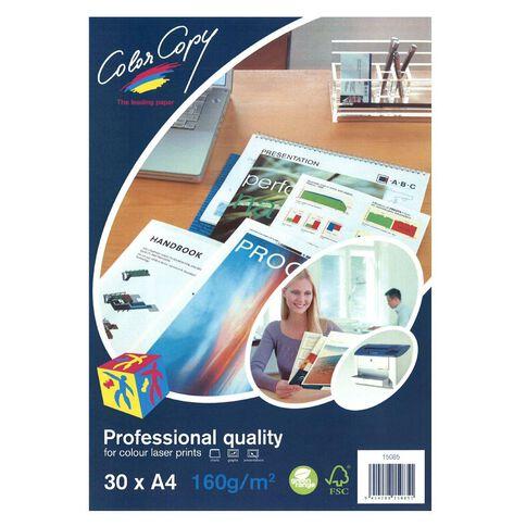 Color Copy Digital Laser 160gsm 30 Pack White A4