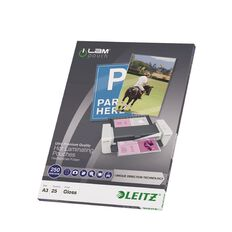 Leitz iLam Udt Lamination Pouches A3 250mic 25 Pieces Clear