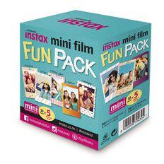 Instax Film Fun Pack 50 Pack Multi-Coloured