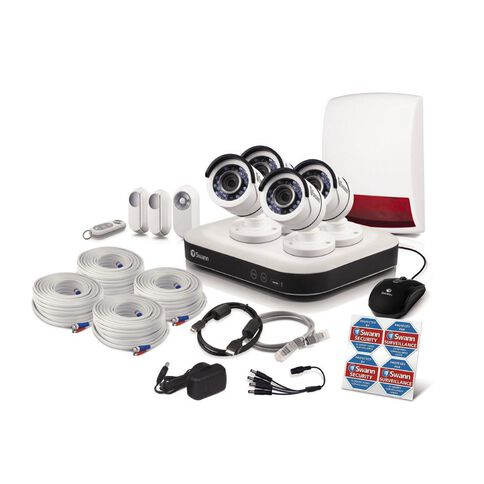 Swann Smart Series 1080P Hd 8 Ch Dvr 4x Cameras & Accessories Kit White