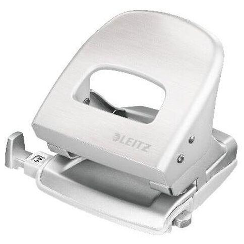 Leitz Metal 2 Hole Punch 30 Sheet Titan White