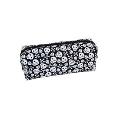 Fs Pencil Case Scattered Skulls Black/White Multi-Coloured