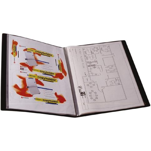 Display Book 20 Pockets Black A3