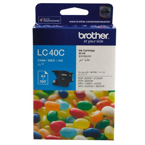 Brother Ink Cartridge LC40 Cyan