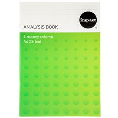 Impact Analysis Book  A4 Limp 4 Column Green