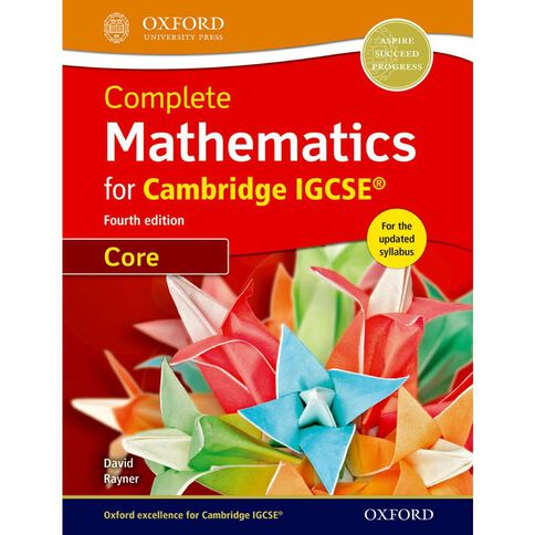 Igcse Year 11 Mathematics Complete Mathematics Student Book Core