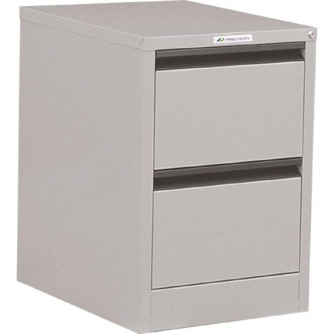 Precision Classic Filing Cabinet 2 Drawer Comet Silver