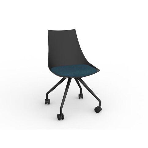 Luna Chair Black Deep Blue