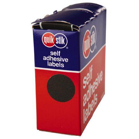 Quik Stik Labels Dots Mc24 500 Pack Black