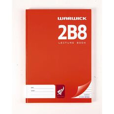 Lecture Book 2B8 7mm Ruled Hardcover 94 Leafs Red