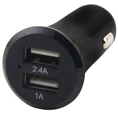 H+O Dual USB Car Charger 3.4A Black