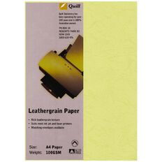 Quill Leathergrain 100gsm 25 Pack Avocado A4