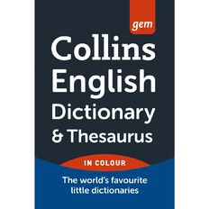 Collins Gem Dictionary And Thesaurus 5th Edition Collins