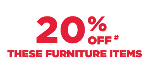 20% Off these furniture items banner