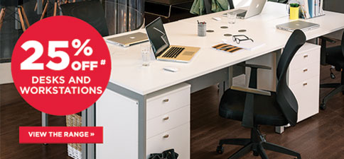 25% Off Desks & Workstations