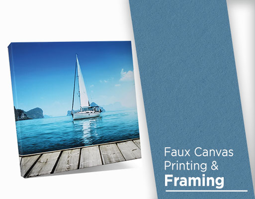 faux canvas print and framing