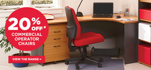 20% Off Commercial & Operator Chairs
