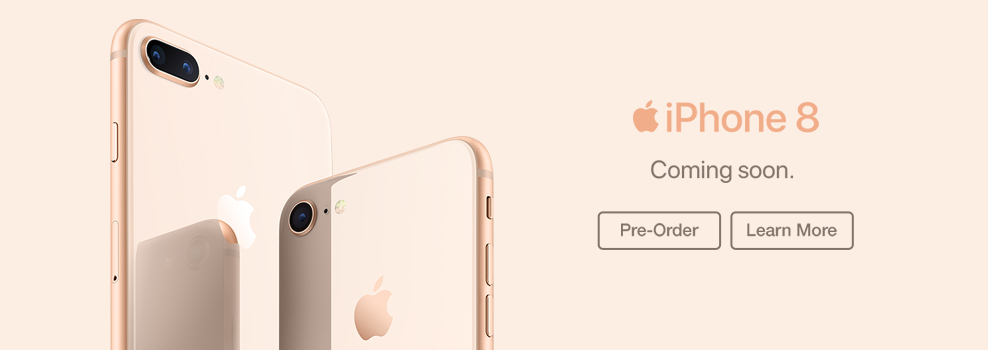 Apple iPhone 8 Pre Order Banner