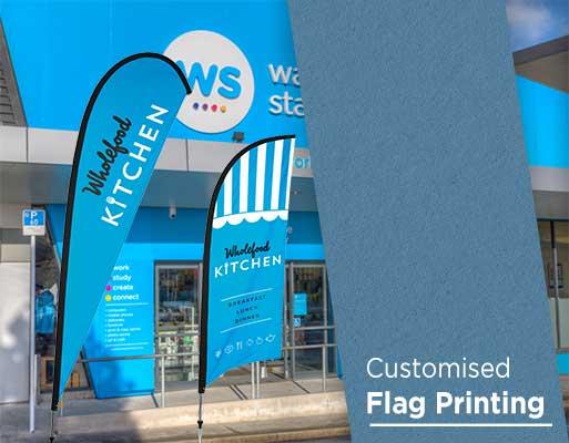 Customised flag printing