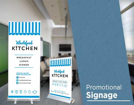 Promotional signage