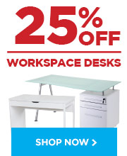 25% off Workspace Desks