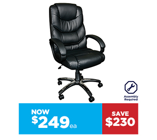 Workspace Magnum Bonded Leather Seated Chair