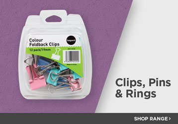 Basic Office Supplies - Clips, Pins & Rings