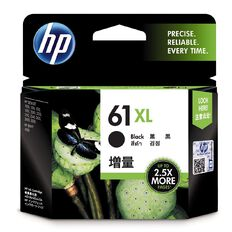 HP Ink 61XL Black (480 Pages)