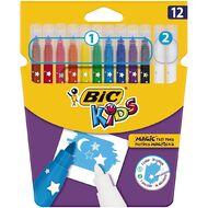 Bic Kids Colour & Erase Felt Pens 12 Pack Multi-Coloured