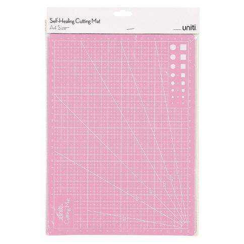 Uniti Cutting Mat Self-Healing Pink A4