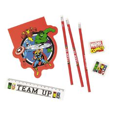 Marvel Kids Avengers Team Up Stationery Set 8 Pieces