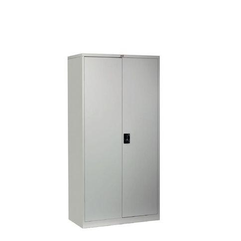 Workspace Cupboard Large Metal 4 Shelves Silver