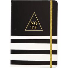 Uniti Black&Gold PU Notebook A5