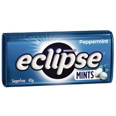 Eclipse Peppermint Mints Sugar Free Large Tin 40g 40g