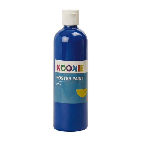Kookie Poster Paint Blue 500ml