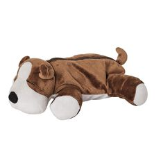 Impact Pencil Case Plush Dog Brown