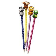 Pen Novelty Animals Asst Blue