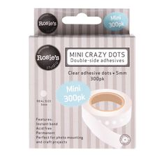 Rosie's Studio Crazy Dots 5mm (3/16in) 300 Pack White