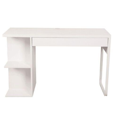 Workspace Moda Bookcase Desk White