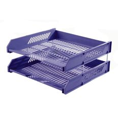 Impact Letter Tray 2 Pack Blue