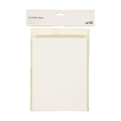 Uniti Cards & Envelopes Ivory 50 Pack